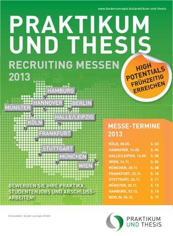 praktikum und thesis messe stuttgart