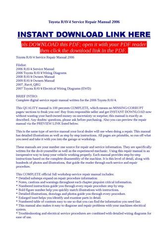 2007 toyota rav4 service manual pdf