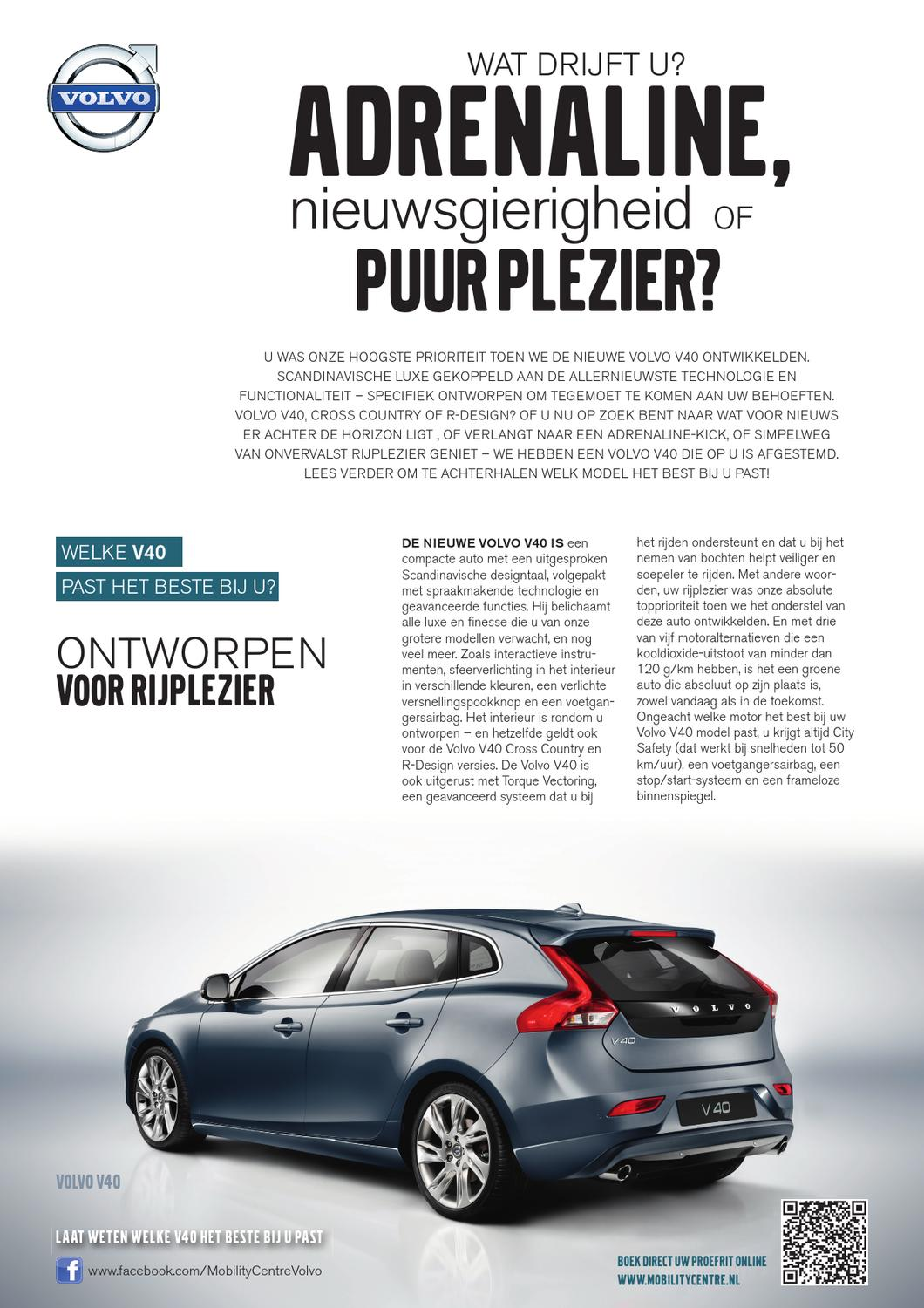 volvo v40 by trend reclame advies issuu. Black Bedroom Furniture Sets. Home Design Ideas