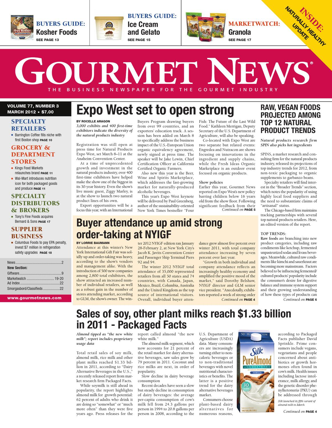 Gourmet News March 2012 by Oser Communications - issuu