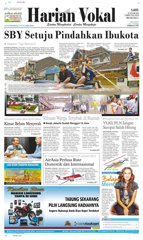 Harian Vokal Edisi 19 Januari 2013 By Riau Publisher Issuu Sensi Doctor Cap Green Penutup Kepala 50 Pcs Khusus Area Pulau Jawa