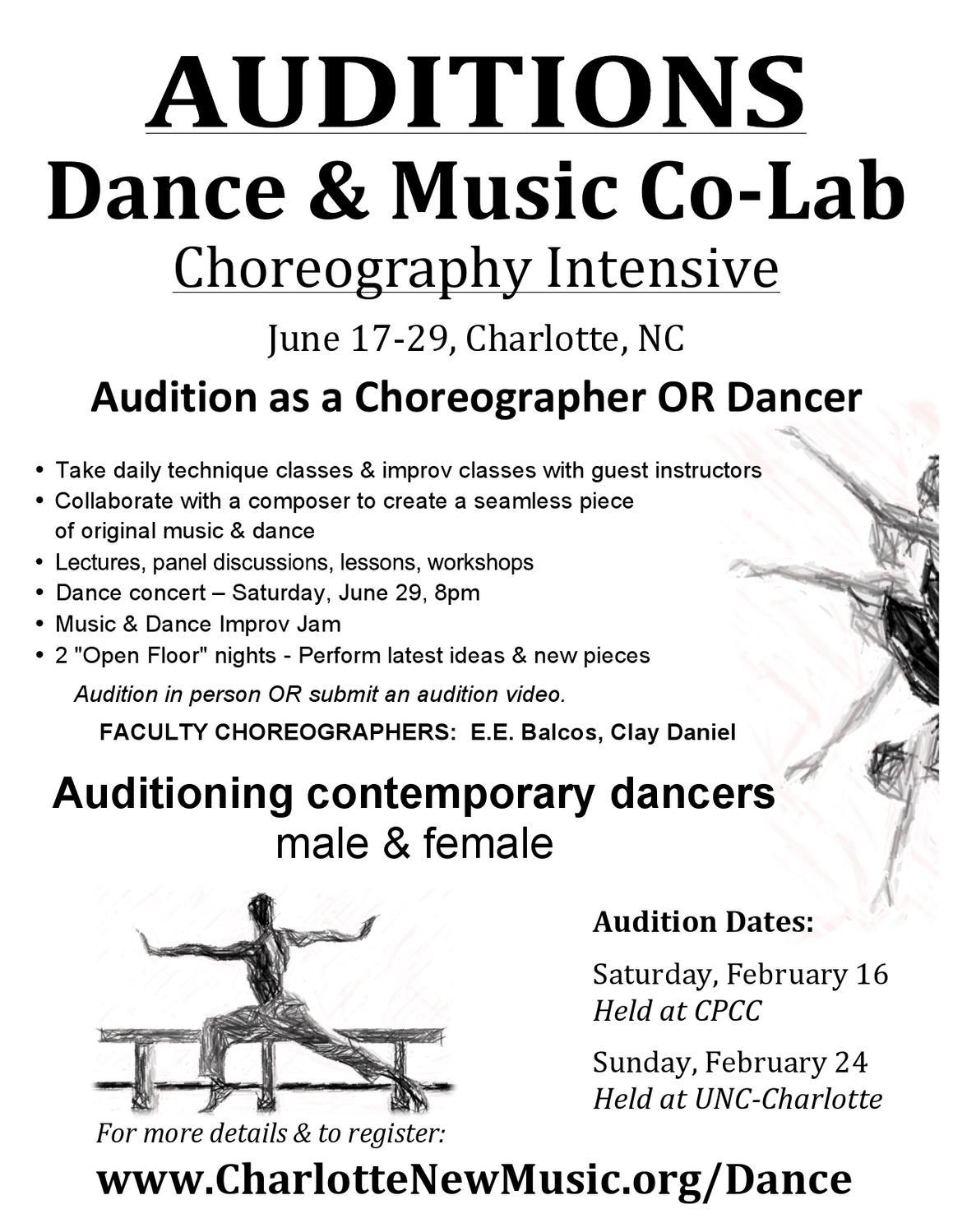 sample flyer for dance auditions by elizabeth kowalski issuu