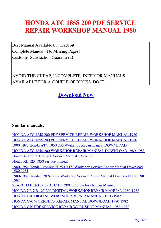 honda atc70 service repair manual 1973 1974 1975 1976 1977 1978 1979 1980 1981 1982 1983 1984 download