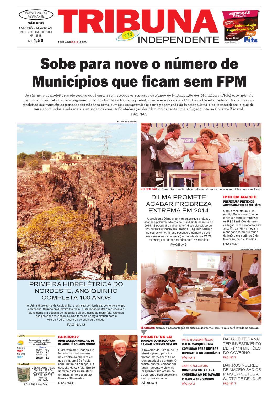 9874e5740 Edição número 1648 - 19 de janeiro de 2013 by Tribuna Hoje - issuu