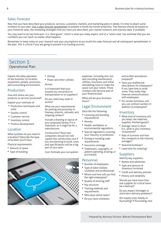 Businee Plan for Startups - Guidlines by Abdulrahman Al