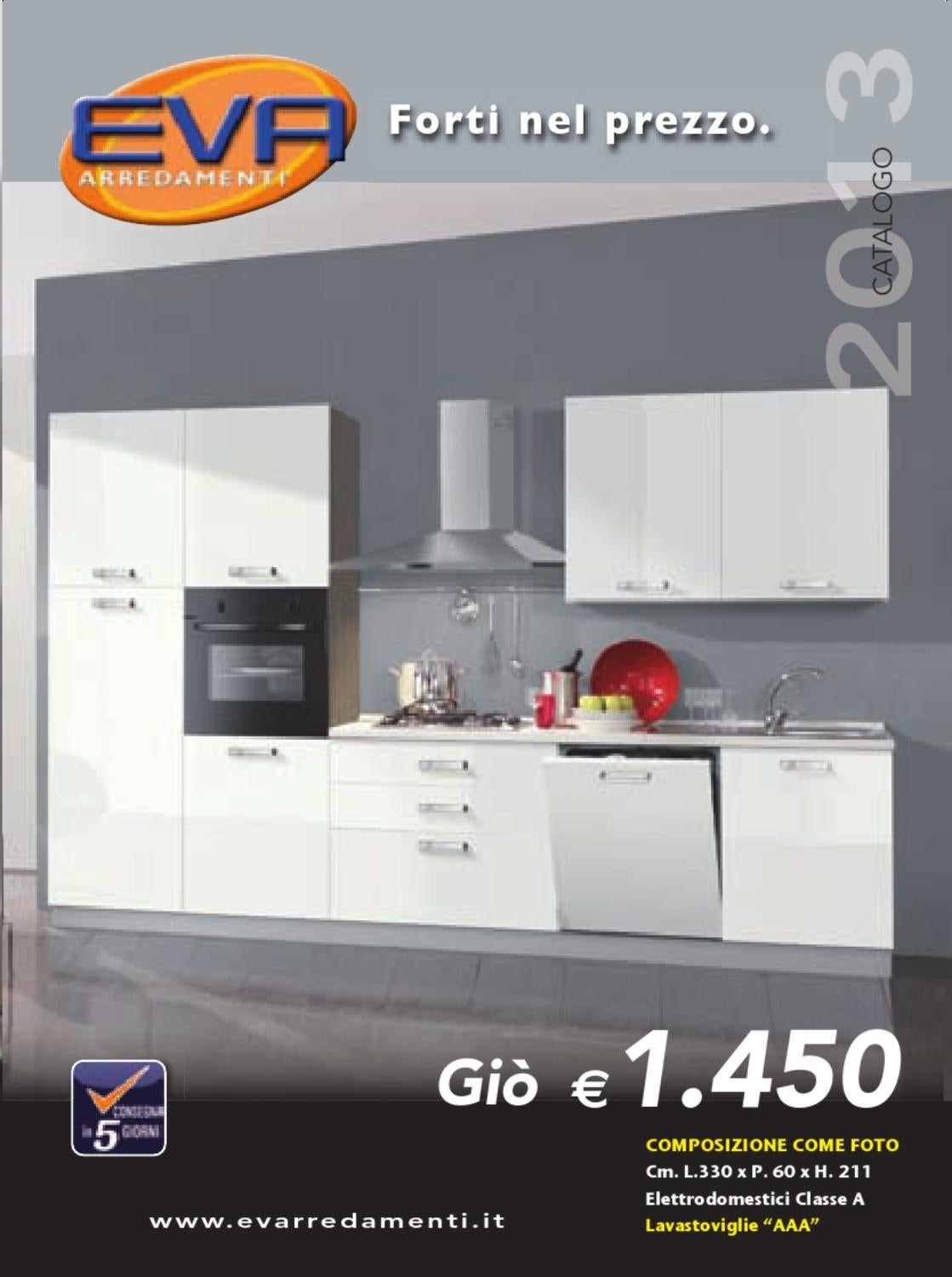 Catalogo 2013 eva arredamenti by mobil clam s r l issuu for Cucina eva mondo convenienza