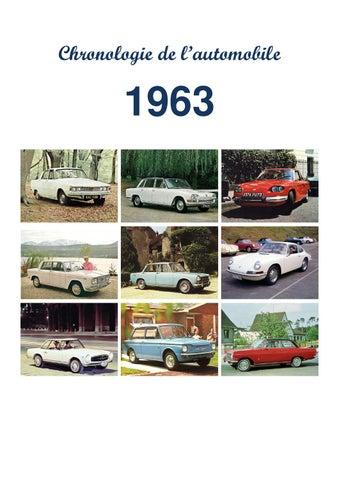 chronologie de l 39 automobile 1963 by flandre beno t issuu. Black Bedroom Furniture Sets. Home Design Ideas