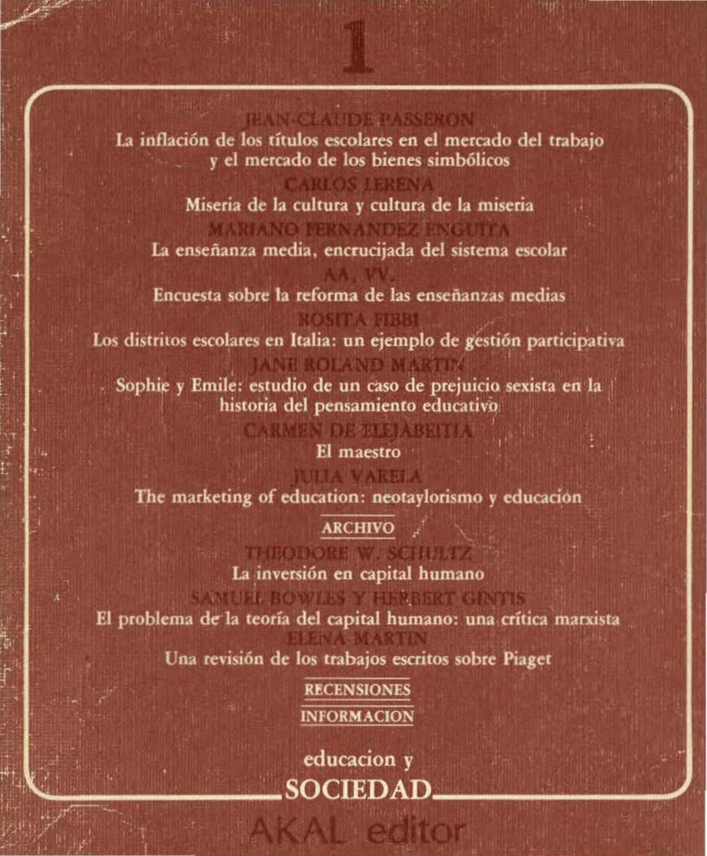 Educacion-y-Sociedad-01 by MARIANO Enguita - issuu