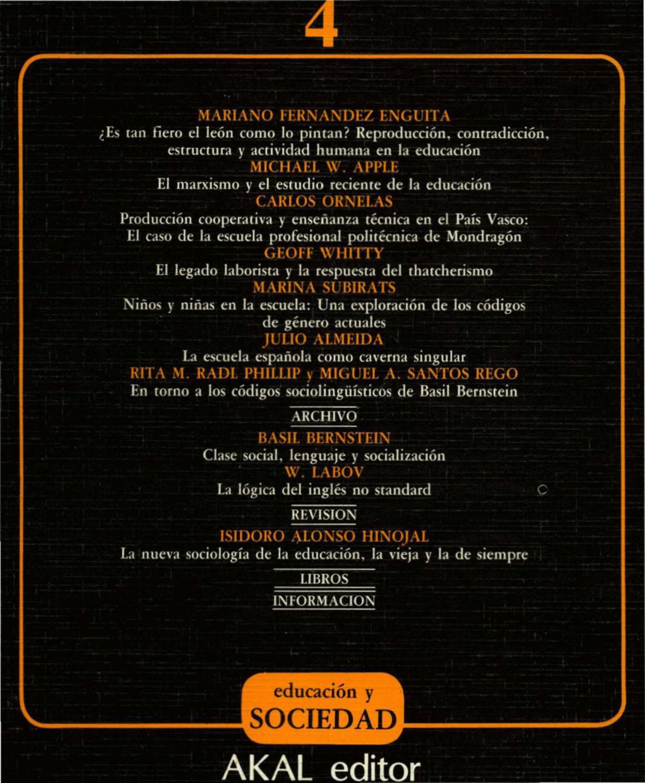 Educacion-y-Sociedad-04 by MARIANO Enguita - issuu