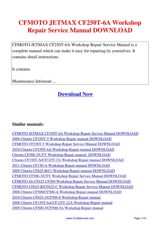 Cf150t 5i manual