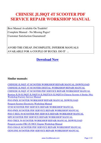 chinese jl50qt 4t scooter service repair workshop manual by lan rh issuu com