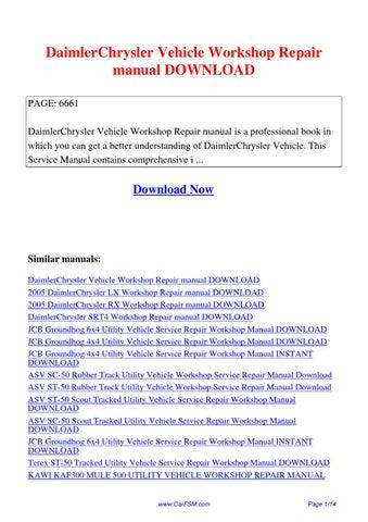 daimlerchrysler vehicle workshop repair manual by hui. Black Bedroom Furniture Sets. Home Design Ideas