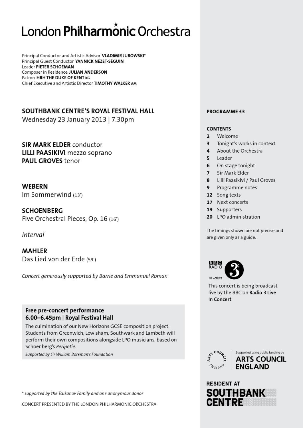 23 Jan 13 - LPO Programme notes by London Philharmonic Orchestra - issuu