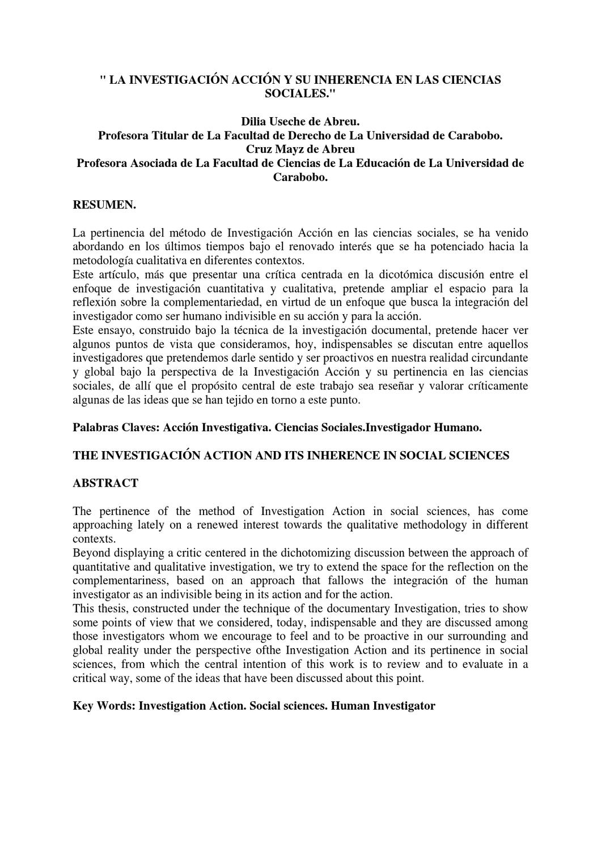 Investigación Acción by Rithard Bolivar - issuu