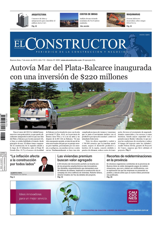 El Constructor 07 01 2013 A O 112 N 4938 By Elco Editores  # Muebles El Cepo Beccar