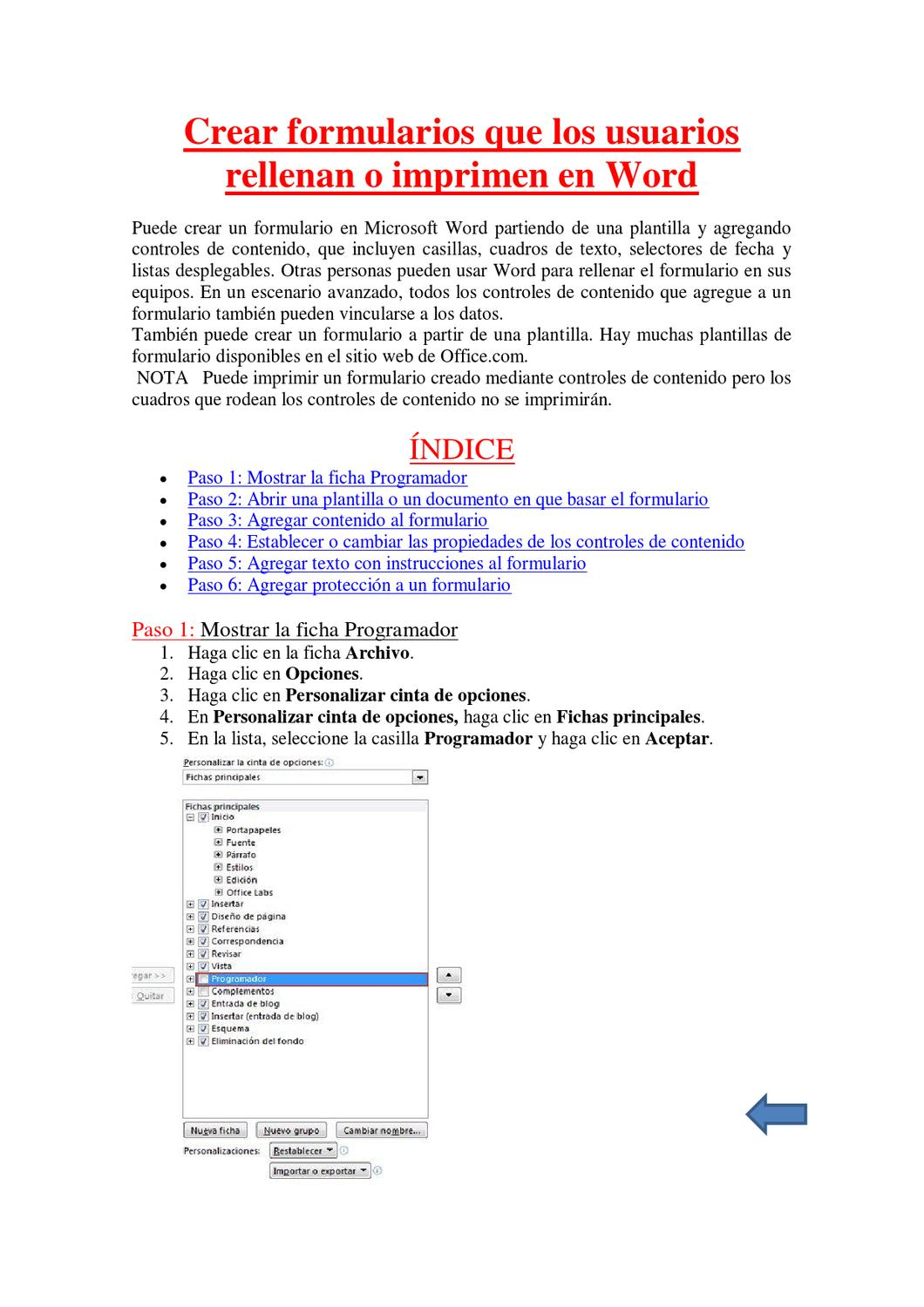 Unidad Formularios Word 2010 by Peter Michael - issuu