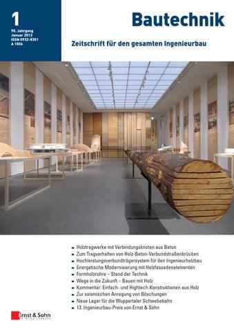 bautechnik 01 2013 free sample copy by ernst sohn issuu. Black Bedroom Furniture Sets. Home Design Ideas
