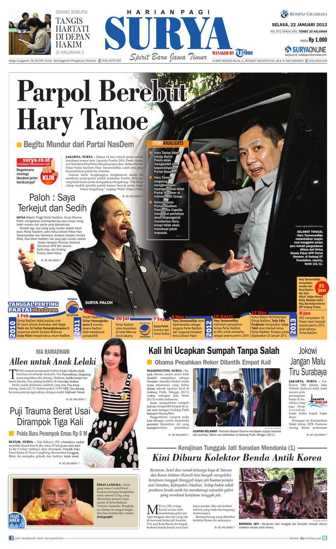 E Paper Surya Edisi 22 Januari 2013 By Harian Issuu Celana Pria Pendek Dry Fit Merah Cln 654