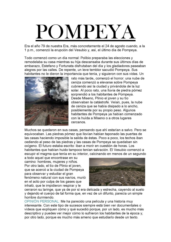 Pompeya, el último día. by Elena Sanchez - issuu