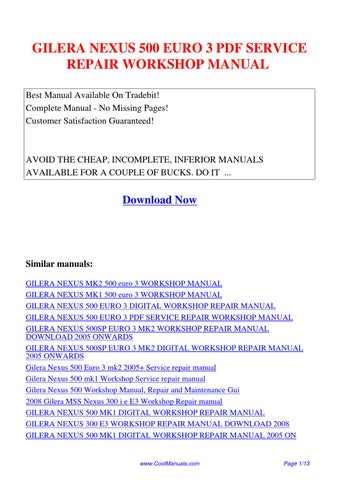 aprilia mojito 125 e3 workshop repair service manual