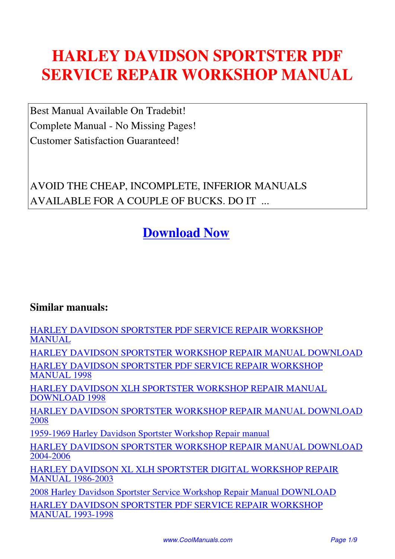 2008 sportster service manual pdf
