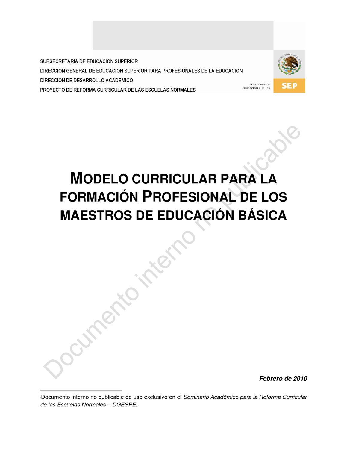 Modelo curricular marzo 2010 by Abel Sanchez Escamilla - issuu
