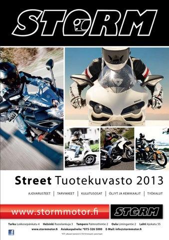STORM Street Tuotekuvasto 2013 by Storm Motor Oy - issuu 46d37b13de