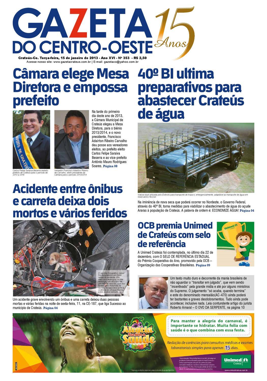 aeea1624af0 Edição Nº 353 by Gazeta Centro-Oeste - issuu