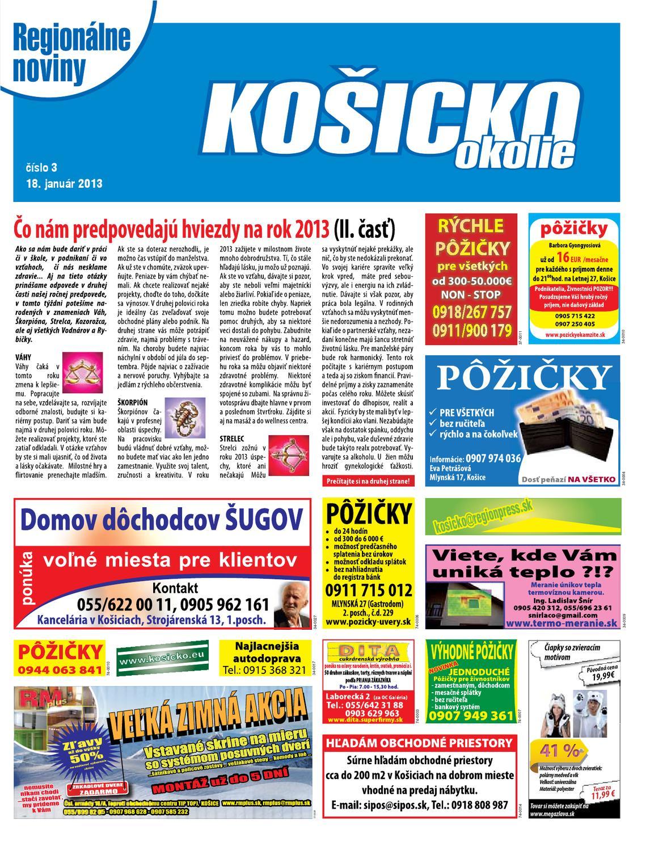 e53bcb702 Kosicko okolie 13-03 by REGIONPRESS - Kosicko - issuu