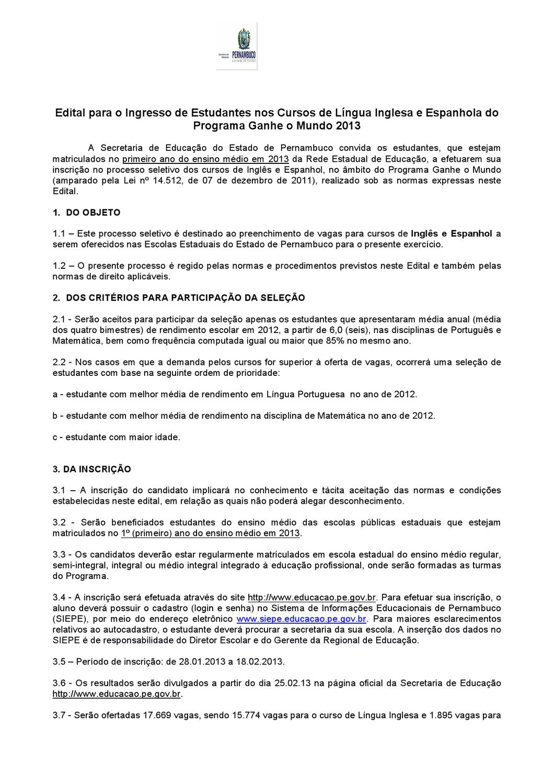 PGM Edital Cursos de Línguas 2013 by Janayna Velozo - issuu f1250a4e62b4c
