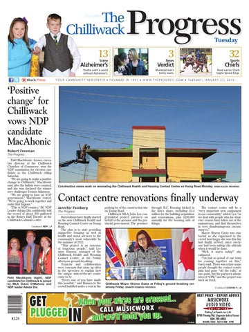 Chilliwack Progress, January 22, 2013 by Black Press Media ... on