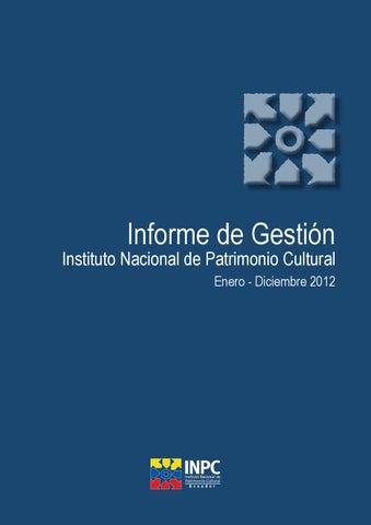 Iforme de Gestión INPC 2012 by INPC Ecuador - issuu ce2d6de8df5