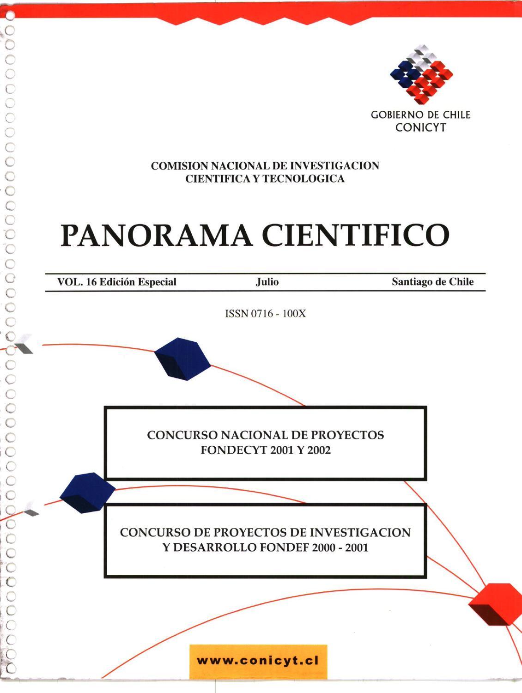 PANORAMA CIENTIFICO. CONCURSO NACIONAL DE PROYECTOS FONDECYT 2001 ...