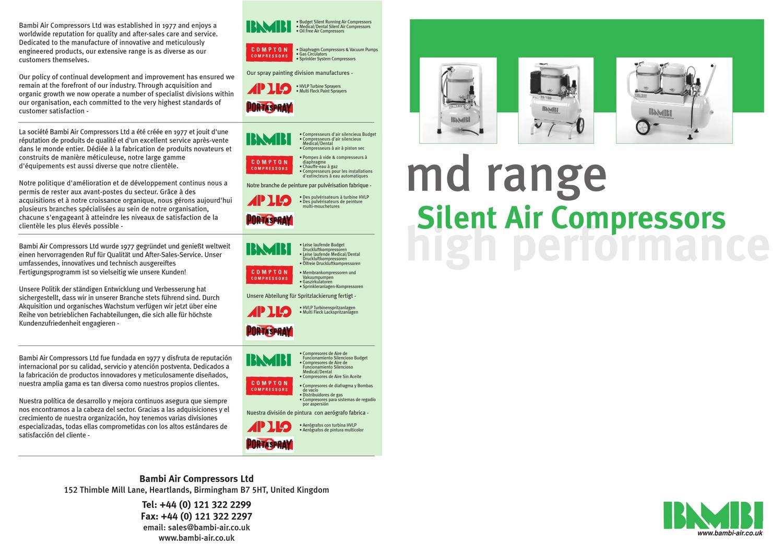 Bambi Md Oil Lubricated Compressor Brochure By Mark Jones Issuu Compact Powder