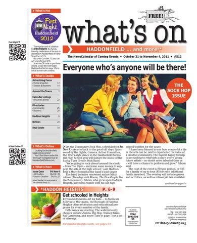 Whats on haddonfield 512 by david hunter issuu page 1 malvernweather Choice Image