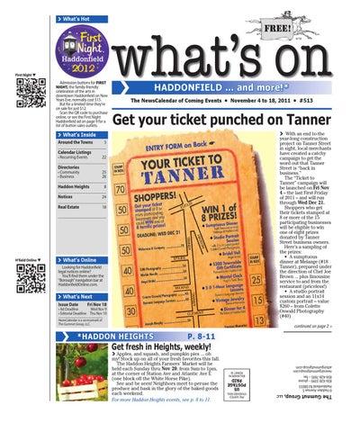 Whats on haddonfield 513 by david hunter issuu page 1 malvernweather Choice Image