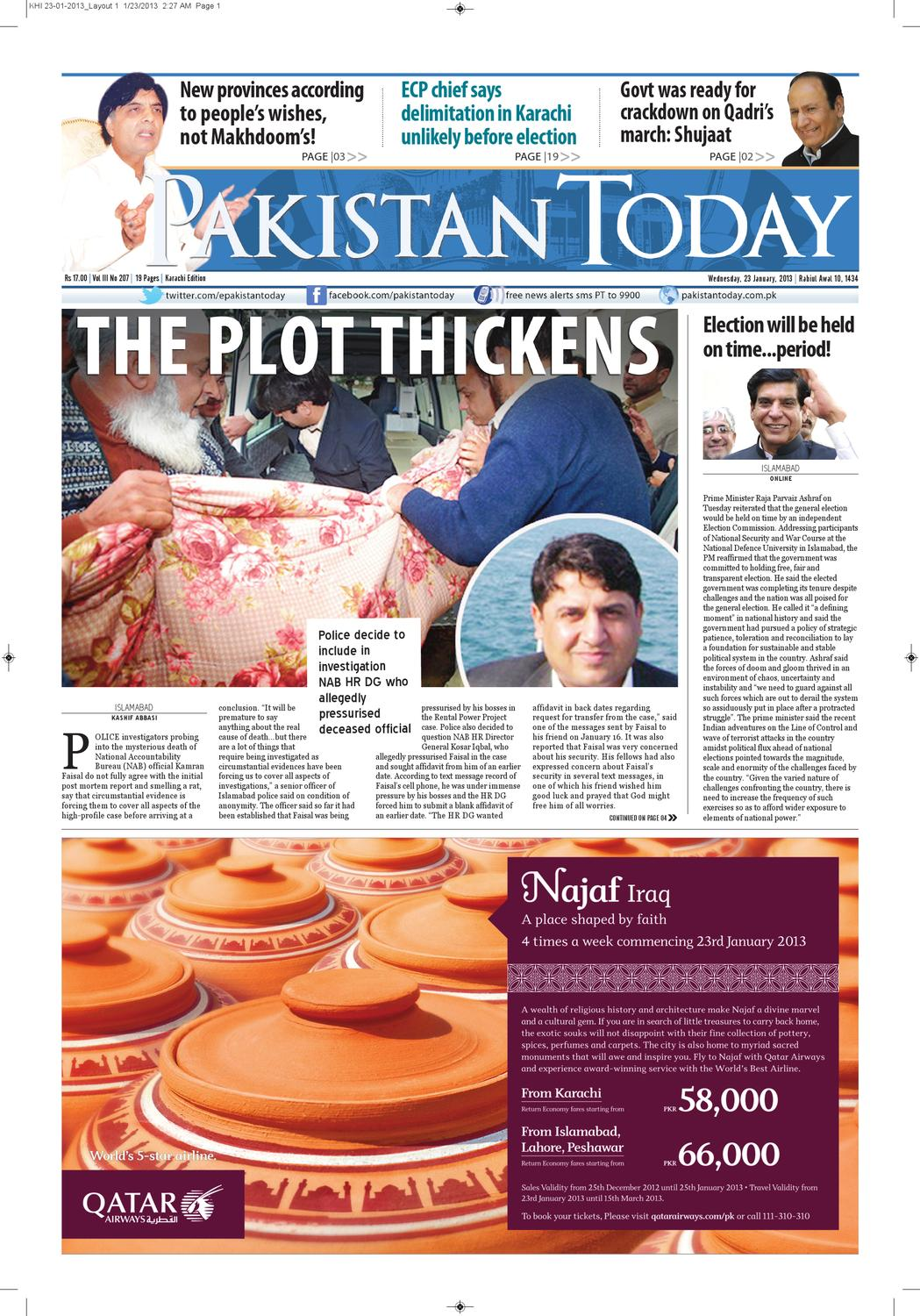 e-paper pakistantoday 23rd January, 2013 by Pakistan Today - issuu
