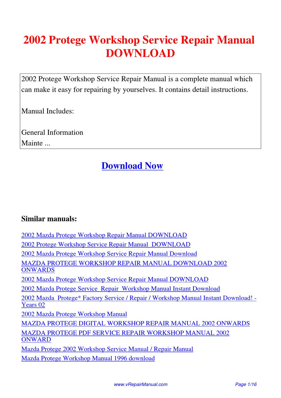 mazda familia manual pdf