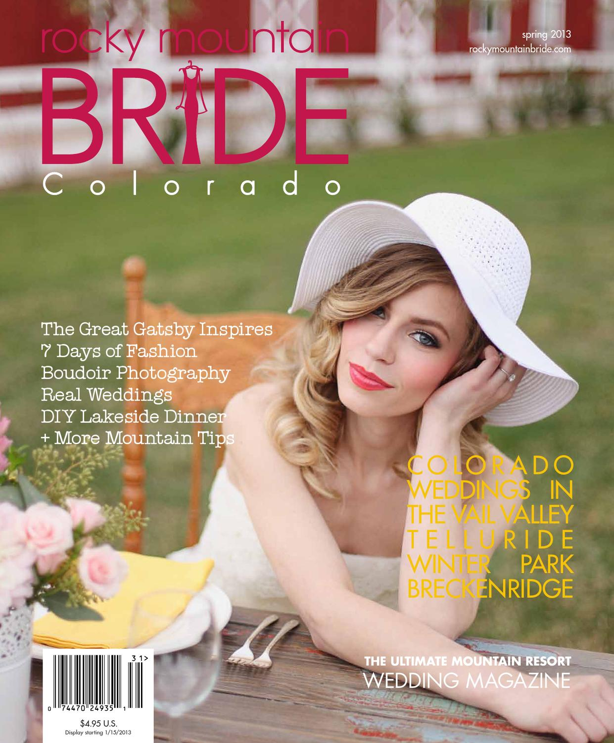 3938a4e3789e Spring 2013 - Rocky Mountain Bride Colorado. Colorado Rocky Mountain  Weddings