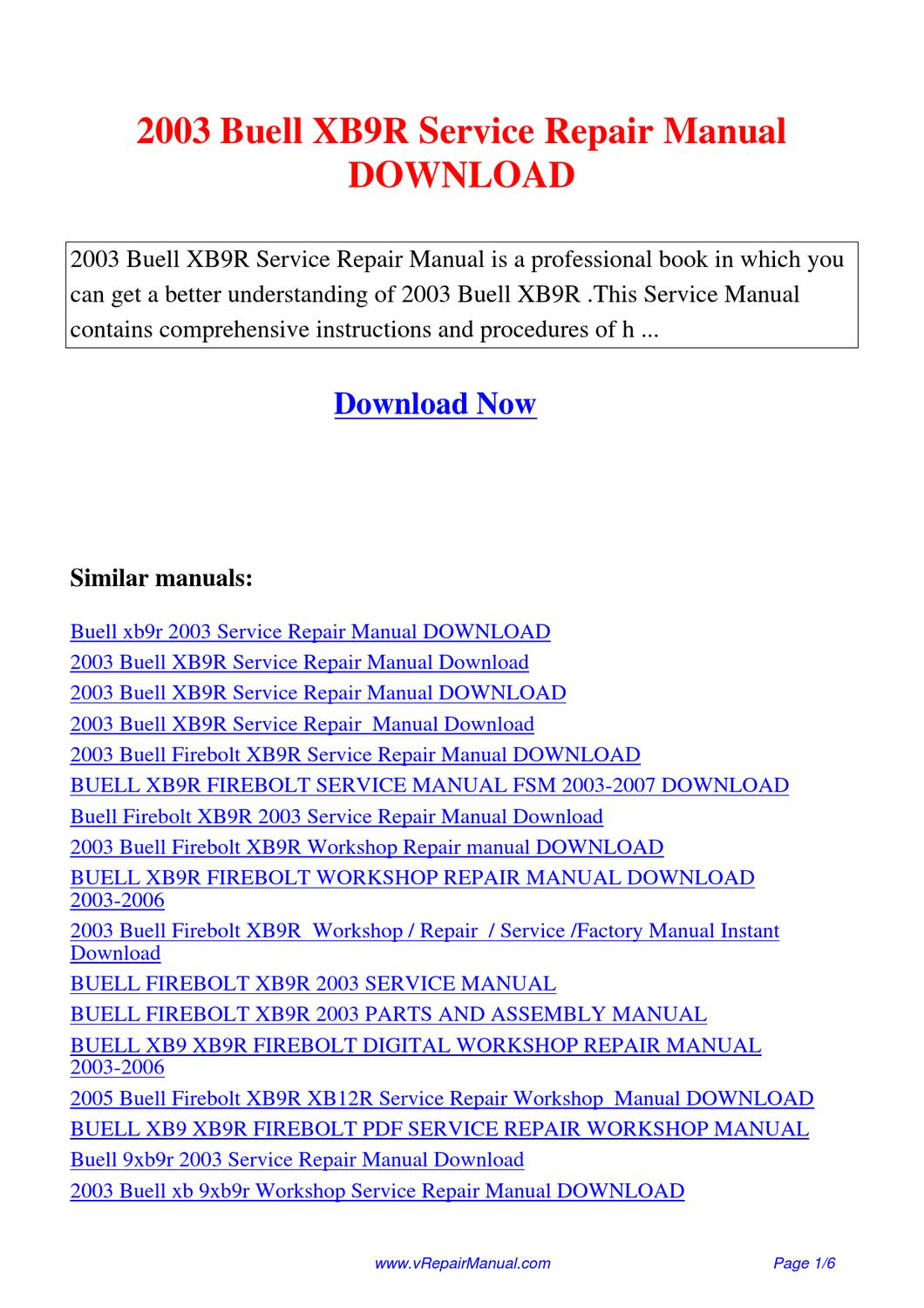 2002 buell m2 m2l cyclone motorcycles repair manual download