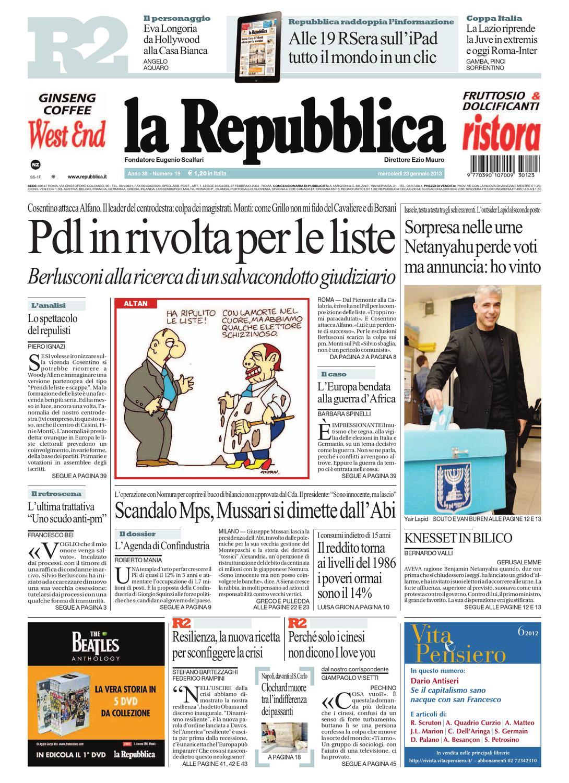 La Repubblica 23-01-2013 by ACMilanArabic - issuu b3593686521