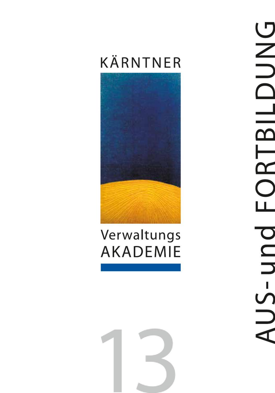 Bildungsprogramm Kärntner Verwaltungsakademie by Ktn ...