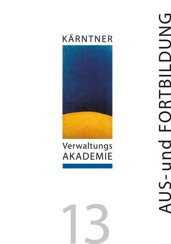 Bildungsprogramm Kärntner Verwaltungsakademie By Ktn