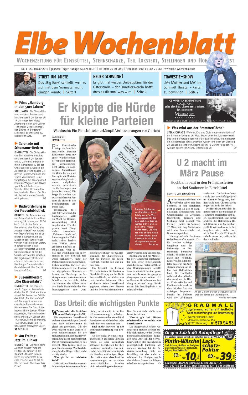 Eimsbüttel KW04-2013 by Elbe Wochenblatt Verlagsgesellschaft mbH ...