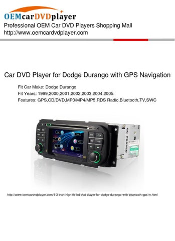 2004 dodge durango dvd player manual