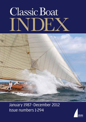 Boat Issuu By Chelsea Index Company Classic The Magazine doeCxBrW