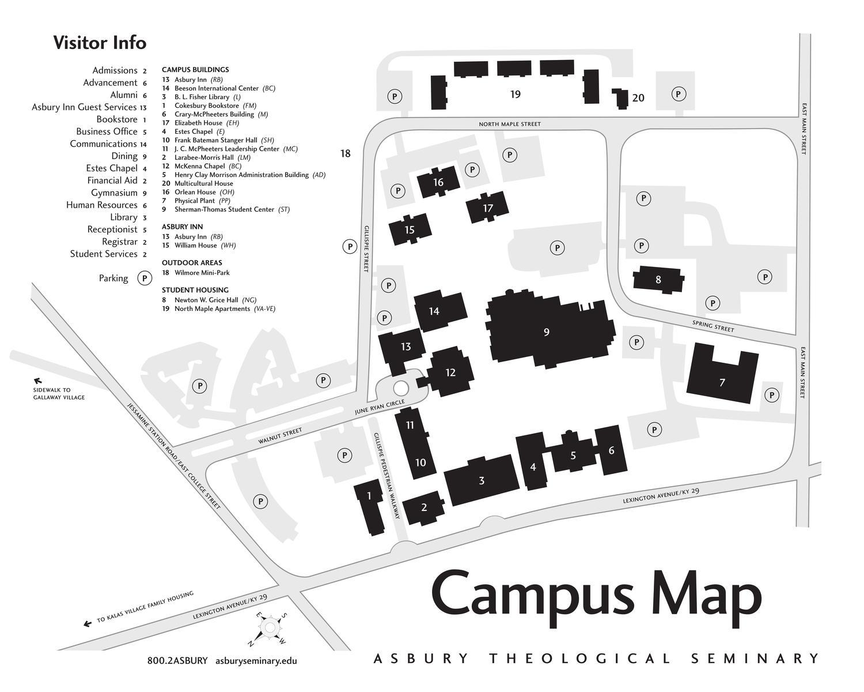 Asbury Seminary Campus Map | stadslucht