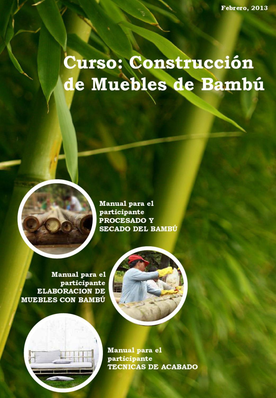 Manual de Construcción de Muebles de Bambú by Omar Caldera - issuu