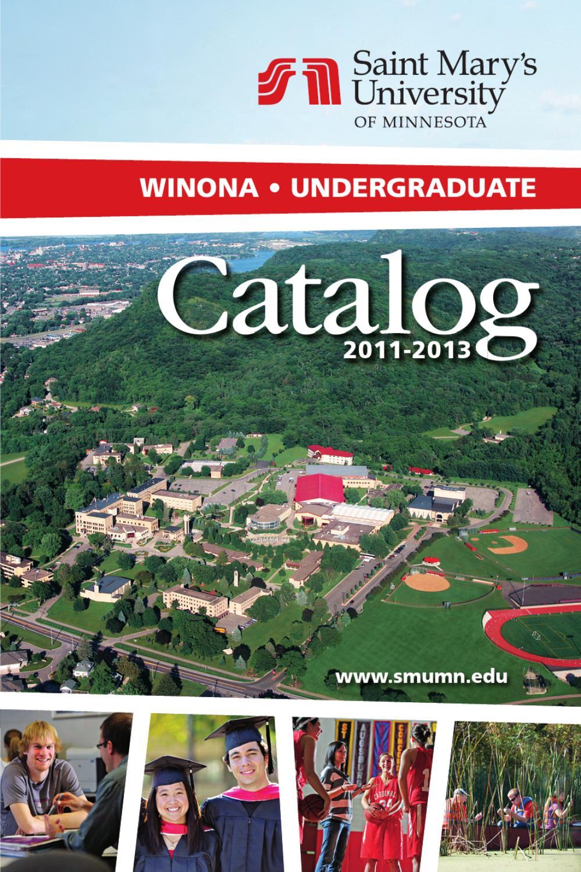 2011 13 winona undergraduate catalog by saint mary 39 s for 700 terrace heights winona mn