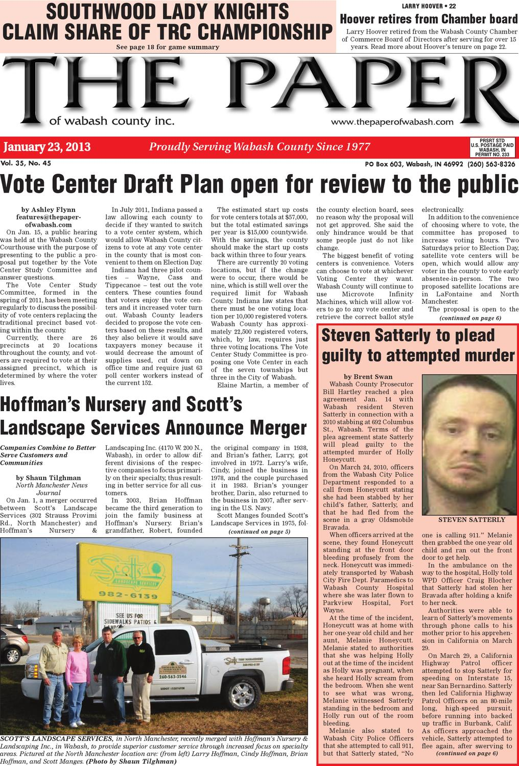Indiana wabash county lagro - 23 2013 By The Paper Of Wabash County Issuu